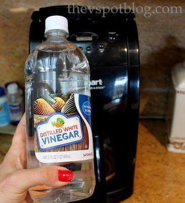 Clean your coffee maker using vinegar