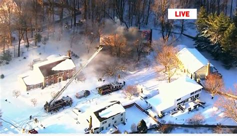 PHOTOS: Roof collapses after massive house fire near Fort
