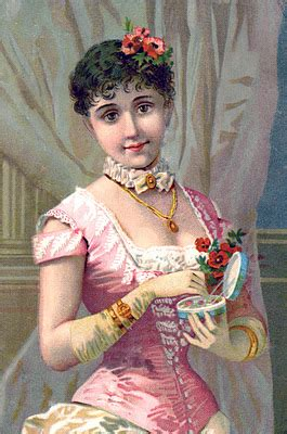 Victorian Image - Fashionable Woman with Gloves - The