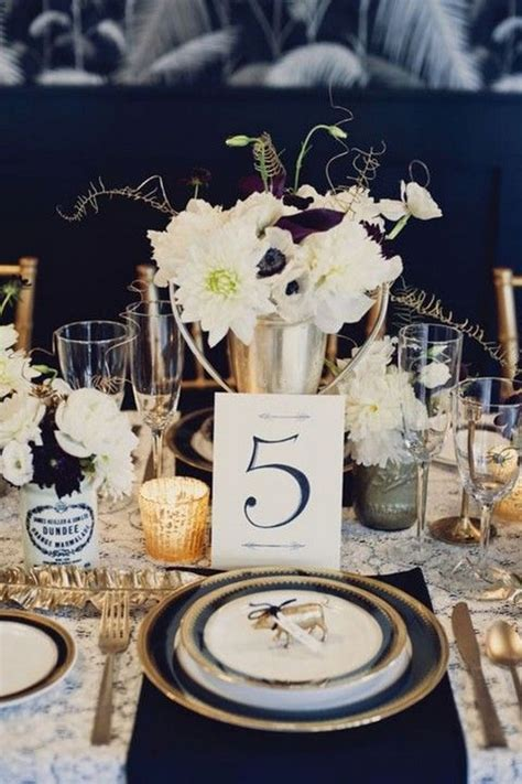 40 Navy Blue and Gold Wedding Ideas – Page 3 – Hi Miss Puff