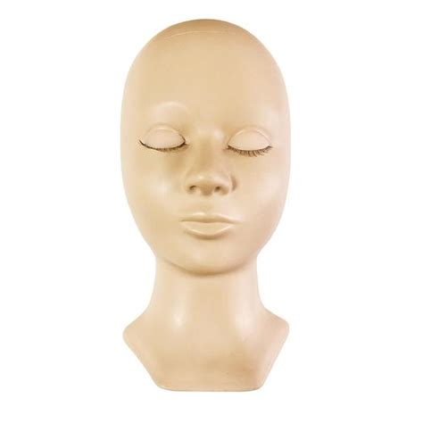 Advance Mannequin Head Removable Eyelids With Lashes