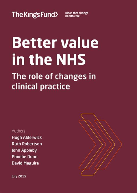 Better value in the NHS | The King's Fund