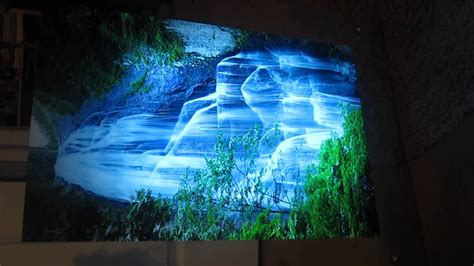 Lighted Moving Waterfall Picture with Mirror Frame - YouTube