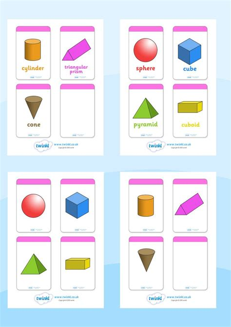Twinkl Resources >> 3D Shape Flashcards >> Printable