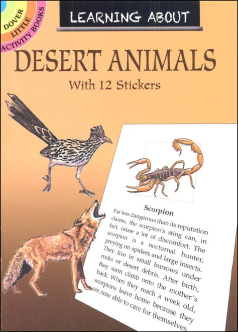 Learning About Desert Animals | Dover Publications