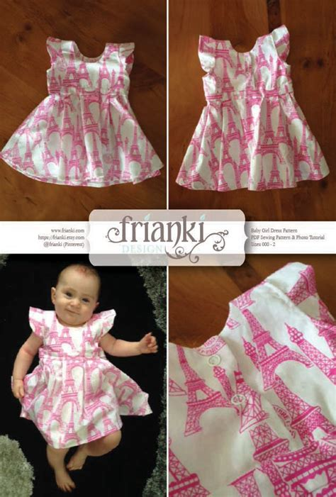Baby Girl Dress PDF Sewing Pattern and Photo Tutorial