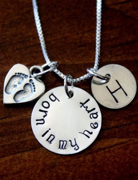 Adoption Necklace Born in My Heart | kandsimpressions