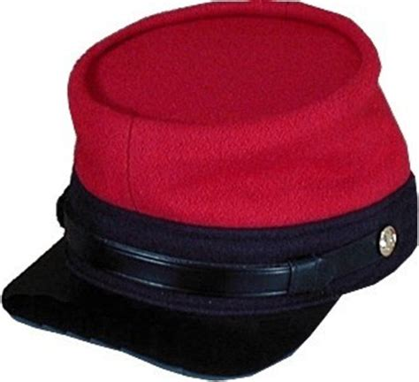 Confederate enlisted and NCO military uniform hats and