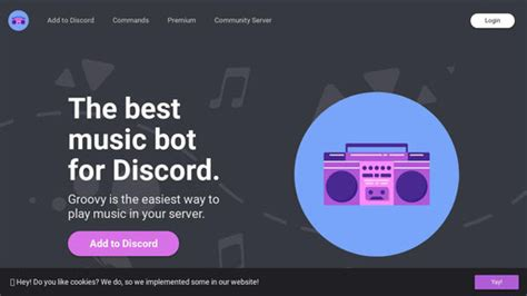 Groovy Discord Bot Icon - WICOMAIL