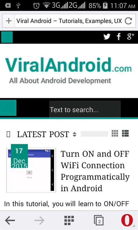 How to Open a URL in Android Browser from Application