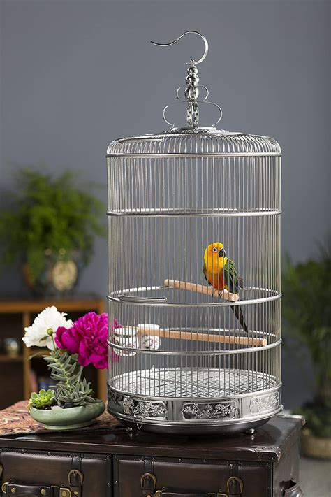 Bird Cage Stainless Steel For Canary Finch Cockatiel
