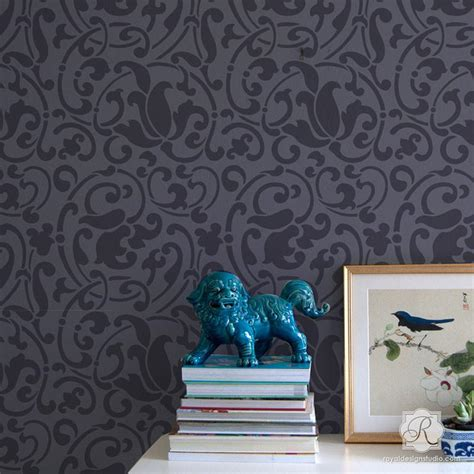Moroccan Wall Stencils for DIY Painted Accent Wall   Royal