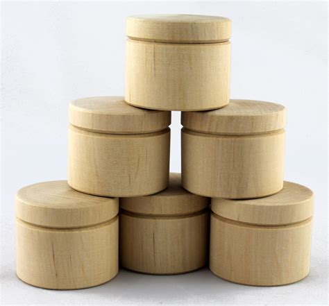 Lot 6 Handmade Blank Unfinished Small Wooden Boxes