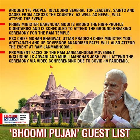 Ram temple bhoomi pujan: From guest list to complete