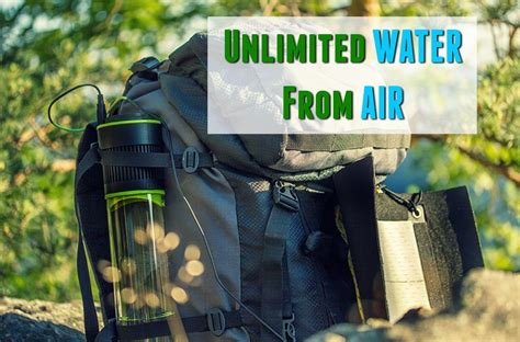 Unlimited Drinking Water from Air