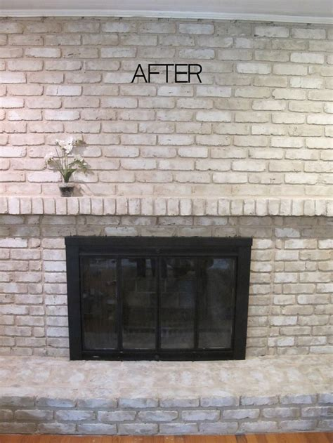 TUTORIAL: How to Paint a Brick Fireplace | Painted brick