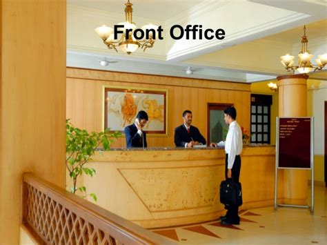 Hotel departments