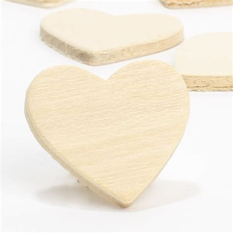 Unfinished Wood Heart Cutouts - Wooden Hearts and Stars