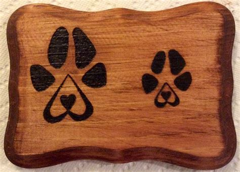 Puppy love wood burned sign on Etsy, $10