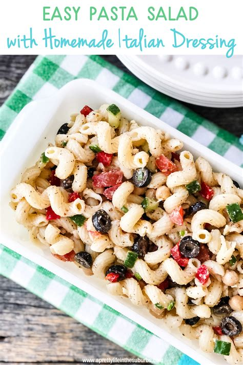 This Easy Pasta Salad with Homemade Italian Dressing is a