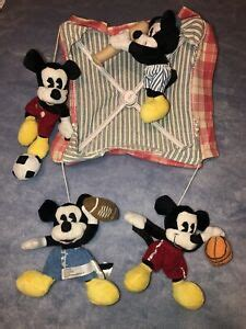 Rare Discontinued Disney Mickey Mouse Sports Baby Crib