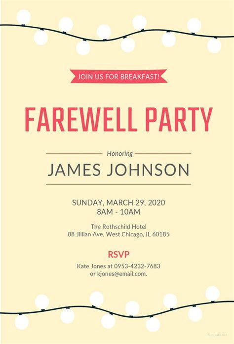 Farewell Party Invitation Template - 29+ Free PSD Format