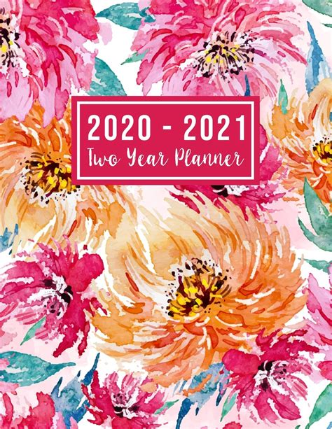 2 Year Monthly Planner 2020-2021: 2020-2021 Two Year