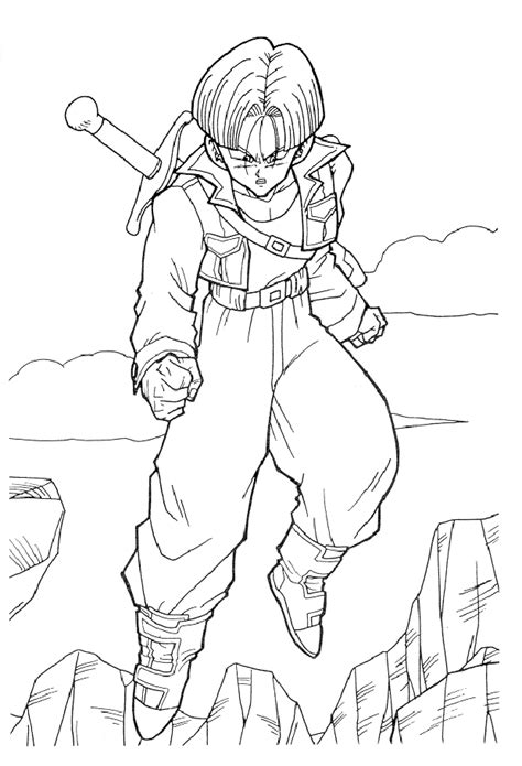 DRAGON BALL Z GOTENKS COLORING PAGE - Coloring Home