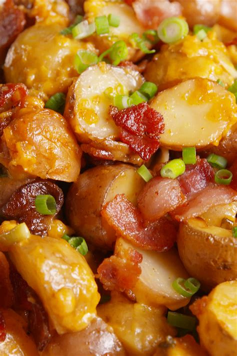 Best Loaded Slow-Cooker Potatoes Recipe-How To Make Loaded