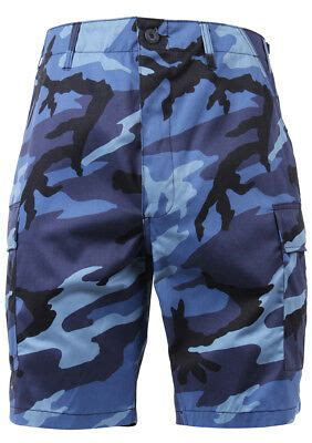 shorts camo bdu military style cargo sky blue camouflage