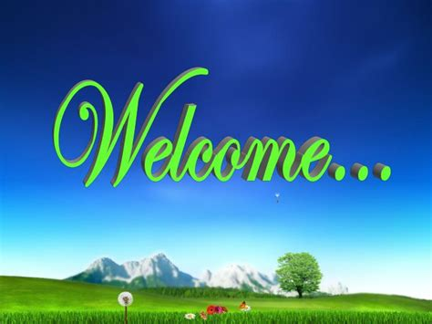 PPT - Welcome… PowerPoint Presentation, free download - ID