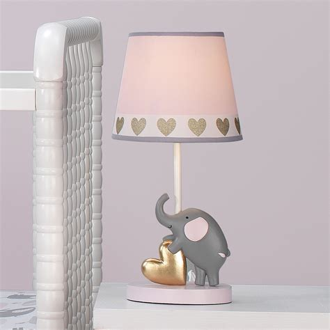 Eloise Nursery Lamp & Shade with Bulb in 2021 | Pink baby