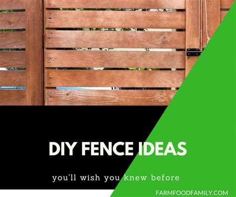 29+ Cheap and Easy DIY Fence Ideas For Your Backyard, or