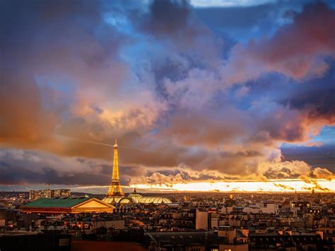 French Paris Eiffel Tower Sunset 4K Ultra HD Preview
