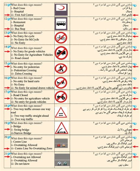 Road Signs Test   Islamabad Traffic Police