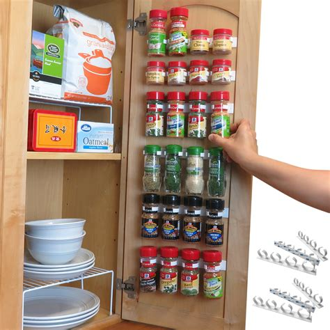 Evelots Spice Organizer-30 Bottle-Strong Hold-Easy Install