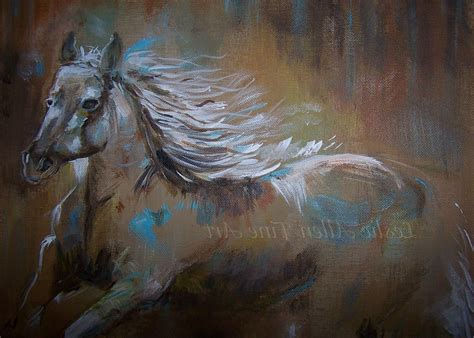 15 Collection of Abstract Horse Wall Art