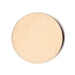 """Laser Cut Unfinished Wood Round Circle Disc - 5"""""""