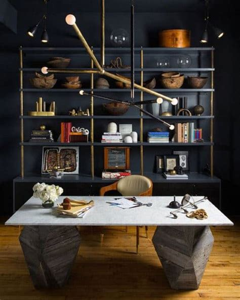 75 Small Home Office Ideas For Men - Masculine Interior