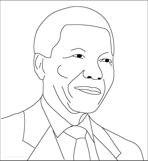 Nelson Mandela Simple Printout for Early Readers