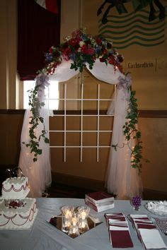 Wedding Arches: Hobby Lobby garden arch with multi white