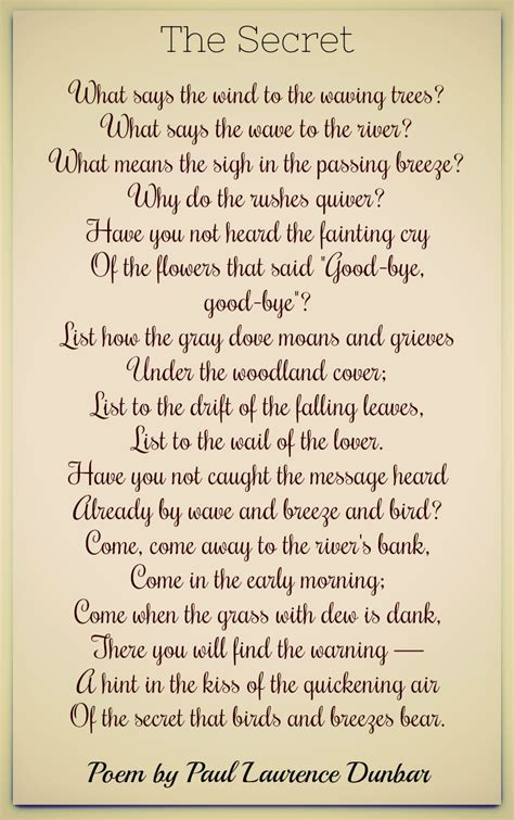 Paul Laurence Dunbar Poems   Classic Famous Poetry