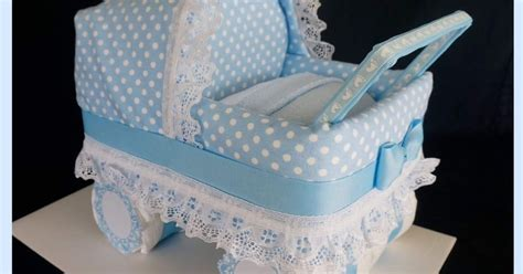 How To Make A Diaper Stroller Cake For A Boy - GreenStarCandy