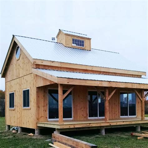 Vermont Cabin   Timber frame cabin, Timber frame homes