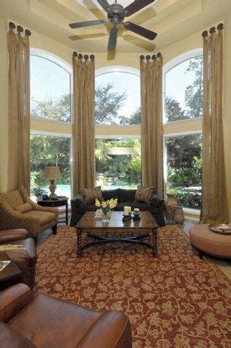 A Stroll Thru Life: Where To Hang Drapes Over An Arched Window