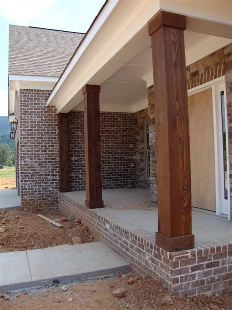Wooden Porch Posts And Columns | The Rickety Brick House