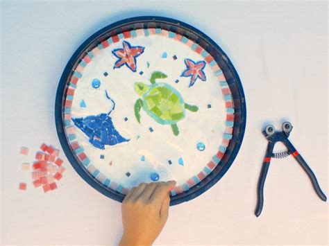 How to Turn Kids Artwork Into Stepping Stones   DIY
