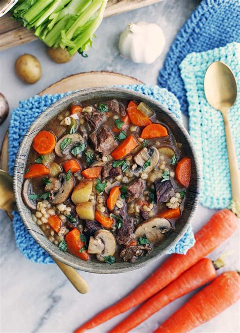 Instant Pot Beef Barley and Mushroom Soup - Yay! For Food