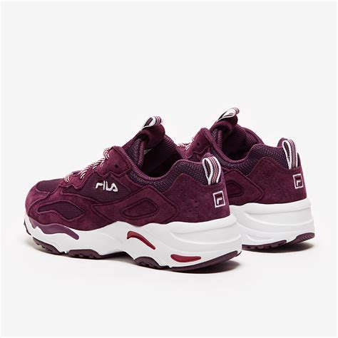 FILA Womens Ray Tracer - Fig/Rosewood/White - Womens Shoes