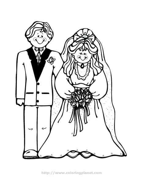 Wedding Coloring Pages For Children - Coloring Home